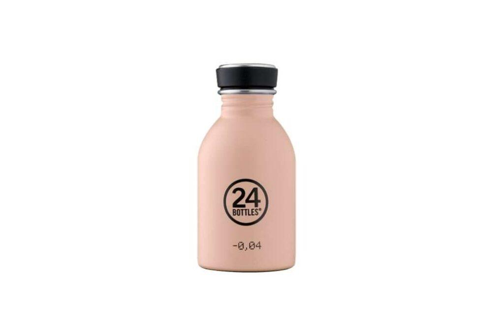 Ampolla rosa pàlid d'acer inoxidable 250ml