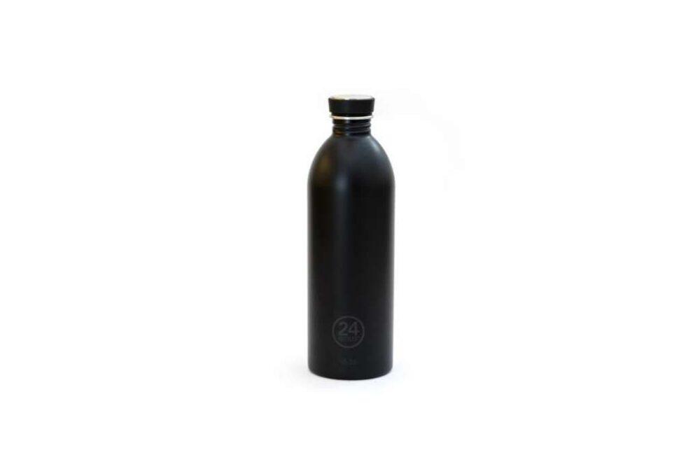 Ampolla Negre d'acer inoxidable 1L