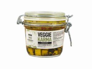 Cubs de formatge vegà i ecològic en oli, tomàquets secs i romaní Veggie Karma