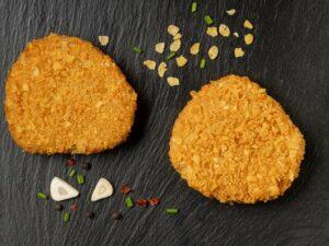 hamburguesa de carn vegetal amb sabor de pollastre vegana 1