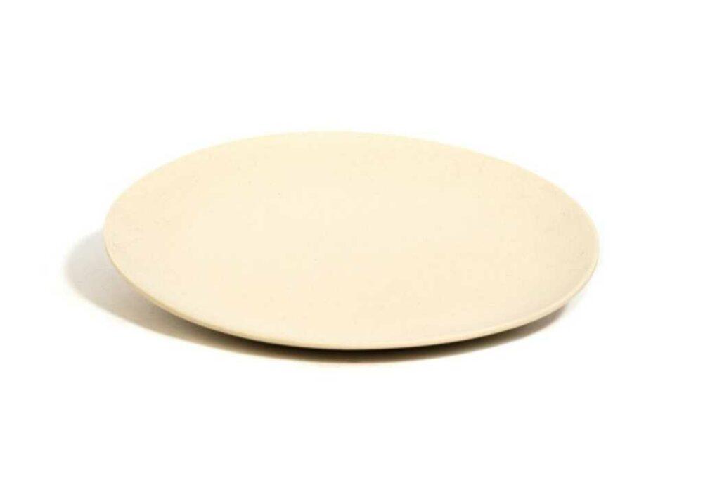 Plat de bambú blanc