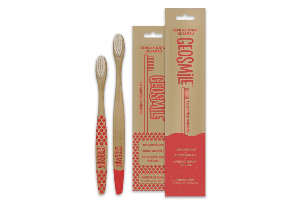 Raspall de dents de bambú per nens (vermell)