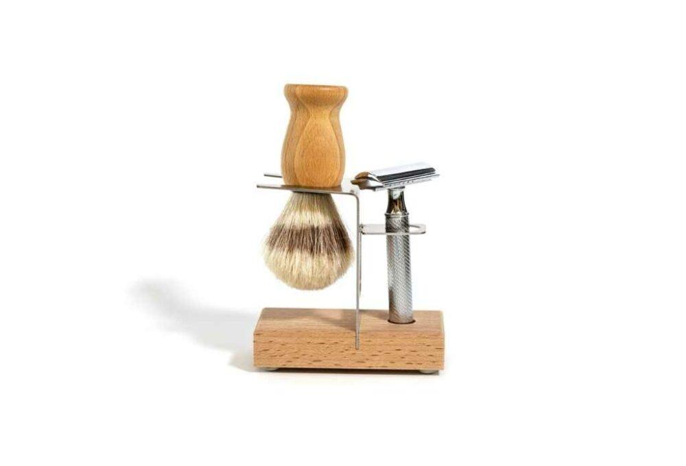 Suport de fusta per navalla d'afaitar