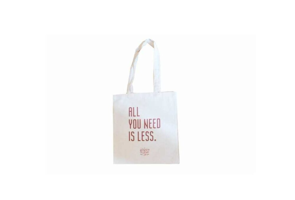 """Tote bag """"All you need is less"""""""
