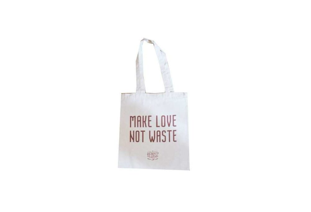 "Tote bag ""Make love not waste"""