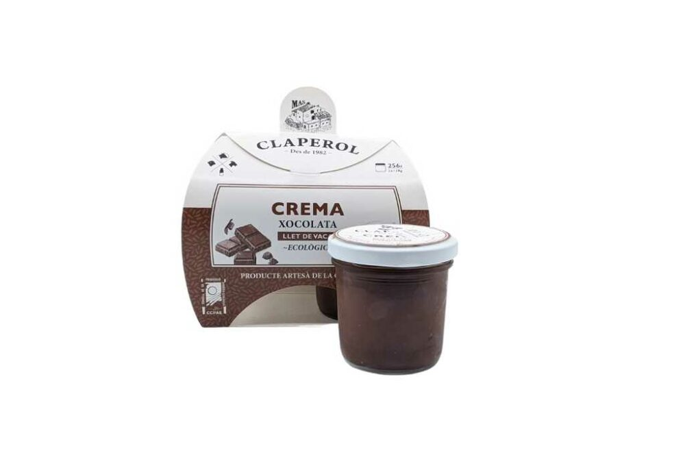 Crema de xocolata ecològica Mas Claperol (2x128G)