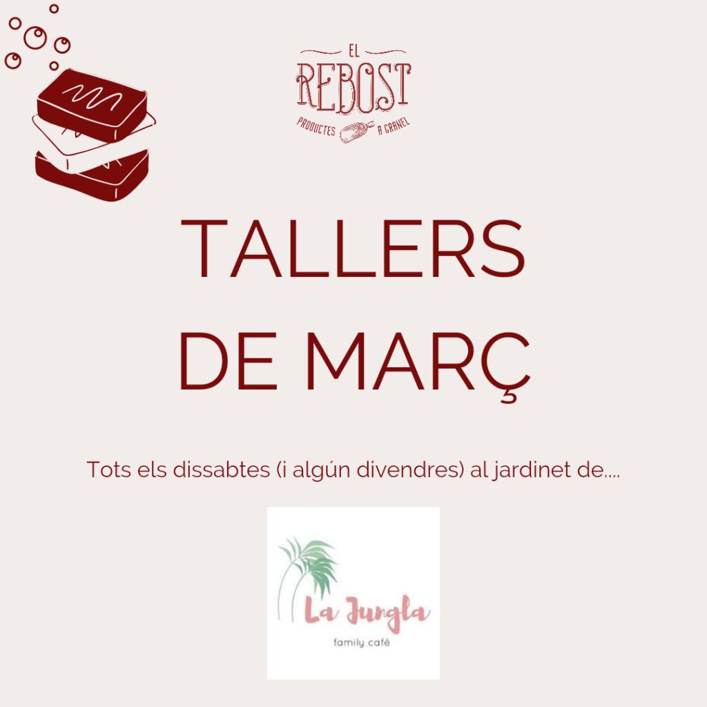 Tallers de març a la botiga sense residus El Rebost