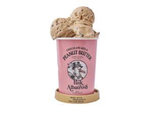 Gelat vegà de cacauet amb xips de xocolata Pink Albatros